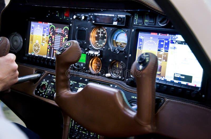Cabine interna do avião fotografia de stock