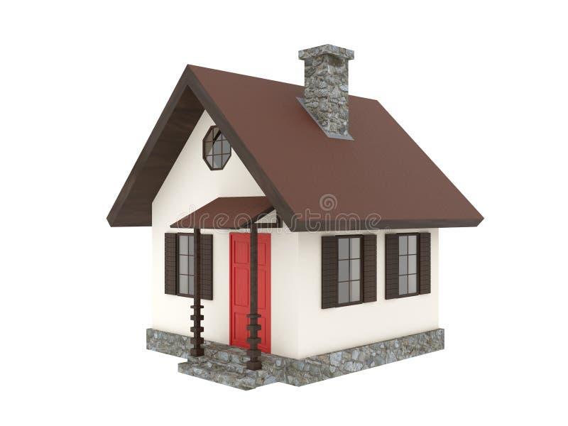 Cabine minúscula da casa da montanha imagem de stock royalty free