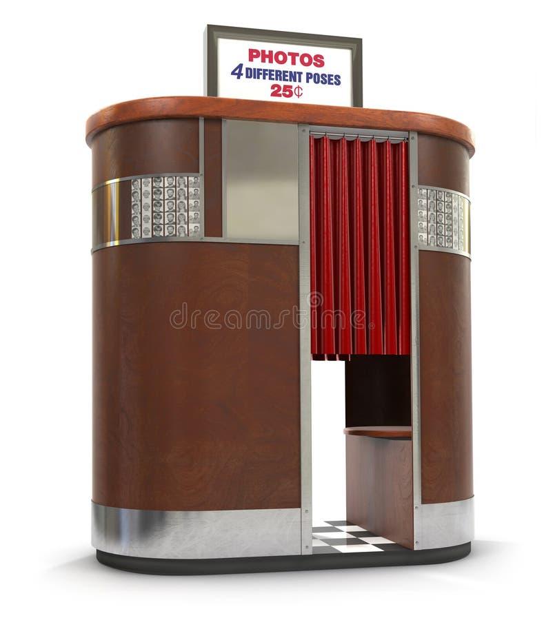 Cabine retro da foto ilustração stock