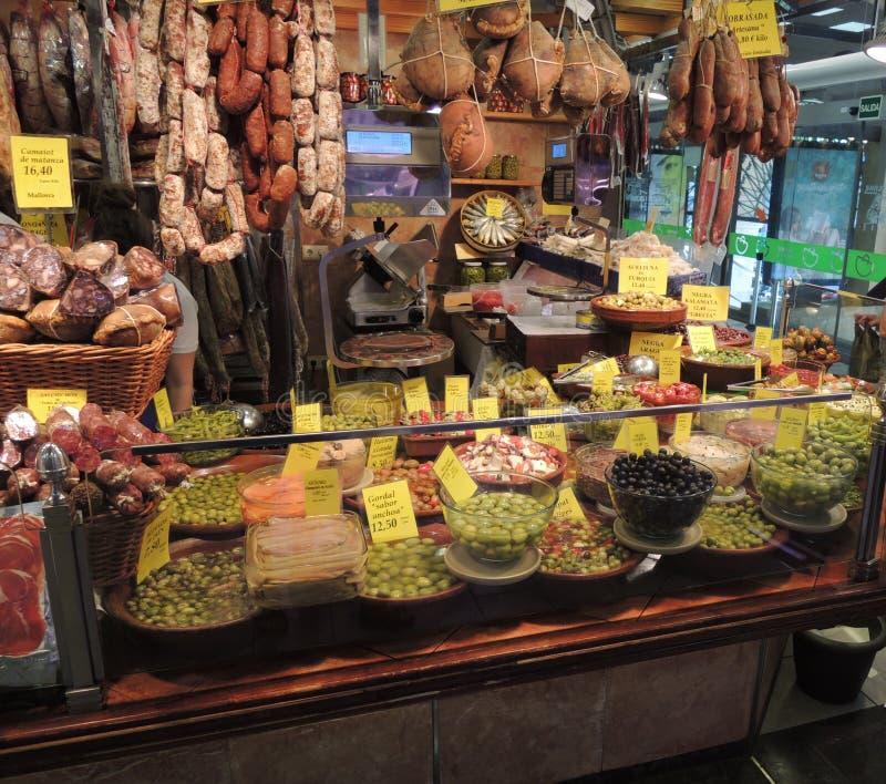 Cabine in Spaanse markt stock afbeeldingen