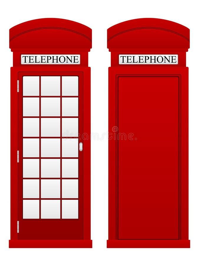 Cabine téléphonique illustration stock