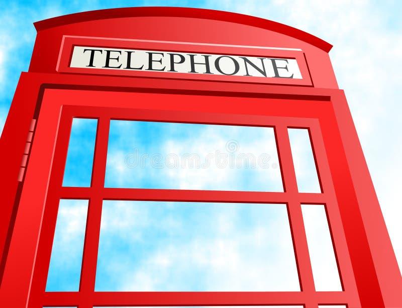 Cabine téléphonique britannique illustration de vecteur