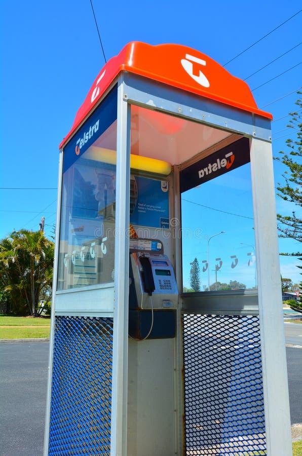 Cabine téléphonique de Telstra images stock