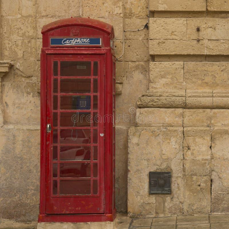 Cabine téléphonique Malte photos stock