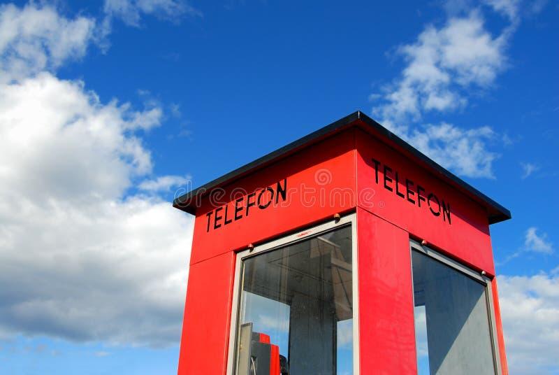 Cabine téléphonique norvégienne photos libres de droits