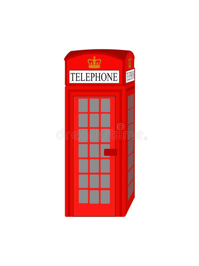 Cabine téléphonique rouge de Londres - vecteur typique de cabine de téléphone du R-U illustration libre de droits