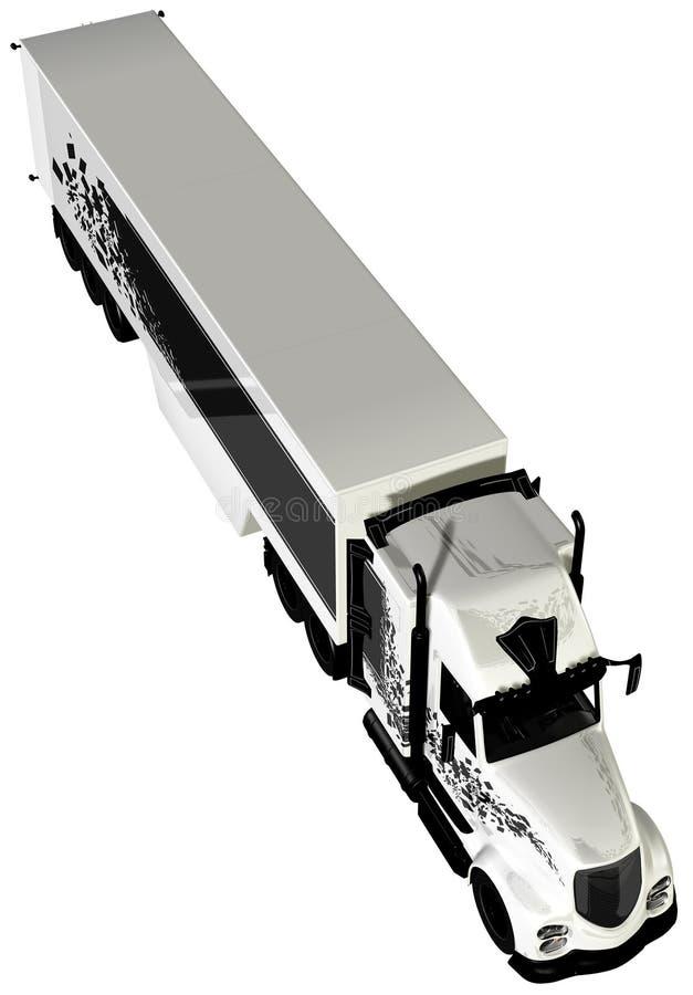 Cabine 18 van de tractoraanhangwagen Speculant stock illustratie