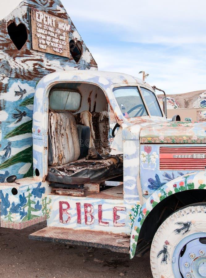 Cabine van geschilderde vrachtwagen royalty-vrije stock afbeelding