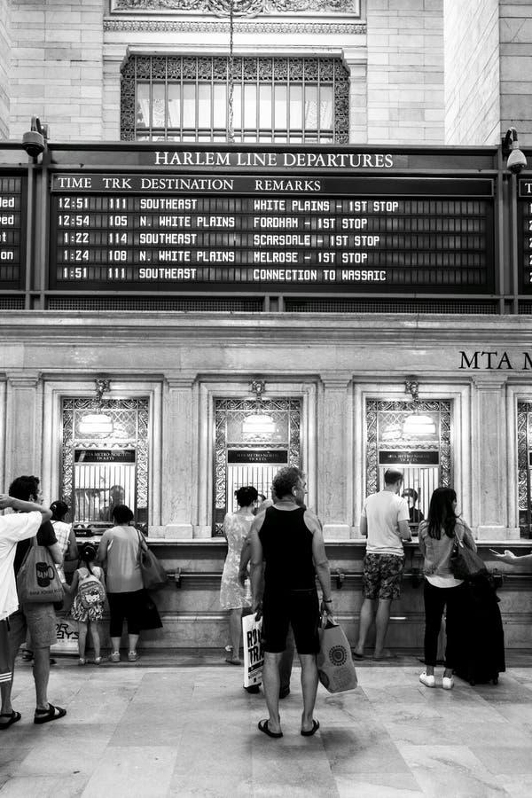 Cabine van het de metrokaartje van Grand Central de Eind in de Stad van New York royalty-vrije stock foto's