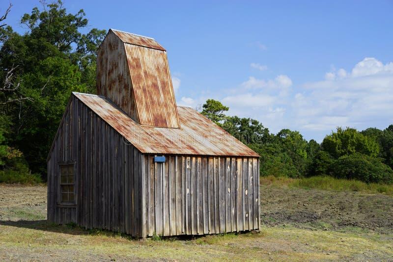 Cabine velha da mineração fotografia de stock