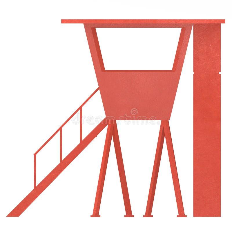 Cabine vermelha ilustração stock