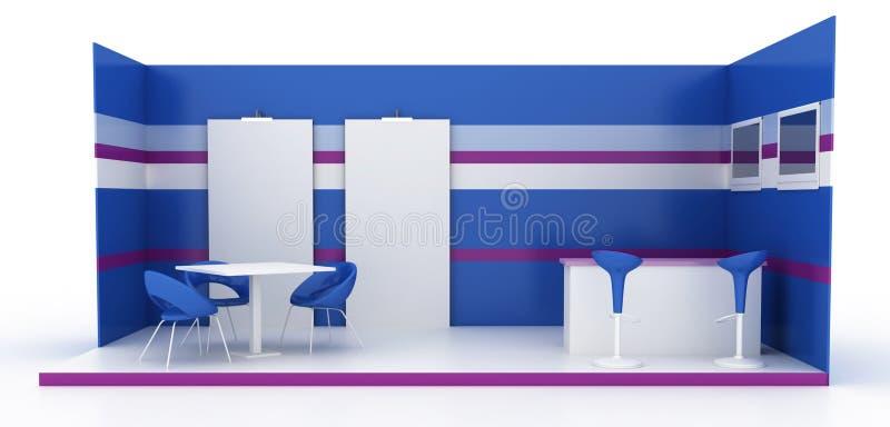 Cabine vide d'exposition, illustration de l'espace de copie photographie stock
