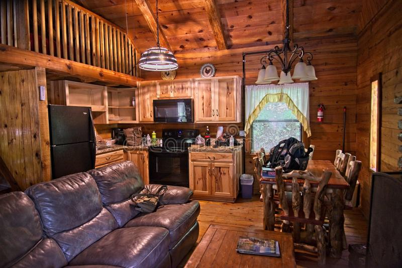 Cabines de location de rondin de Ponca Arkansas photo stock