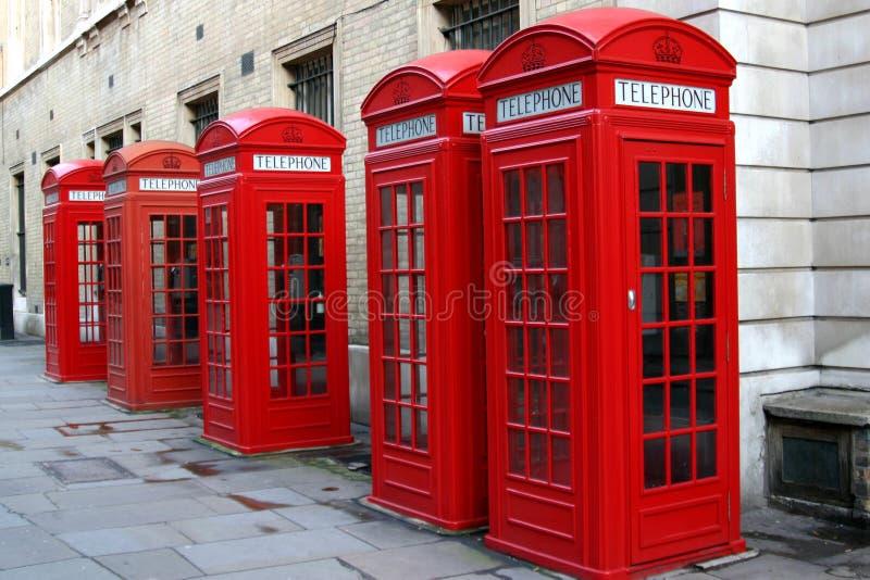 Cabines de téléphone rouges images libres de droits