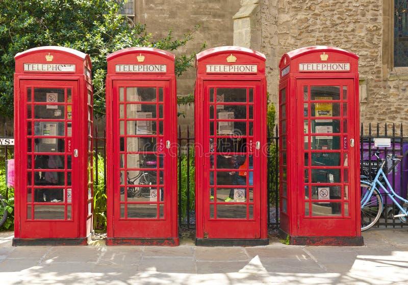 Cabines de téléphone rouges image libre de droits