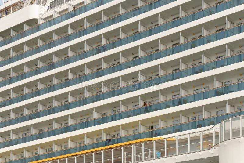 Cabines de um navio de cruzeiros moderno imagens de stock
