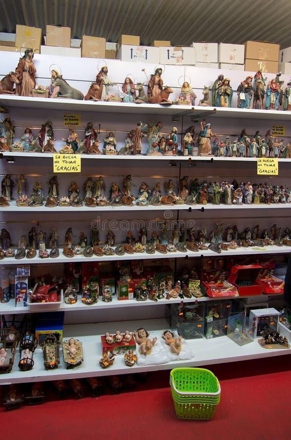 Cabines de vendeur du marché de maire Christmas de plaza photographie stock libre de droits