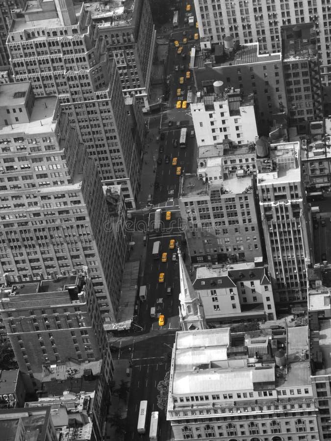 Cabines van de Taxi van New York de Gele stock foto