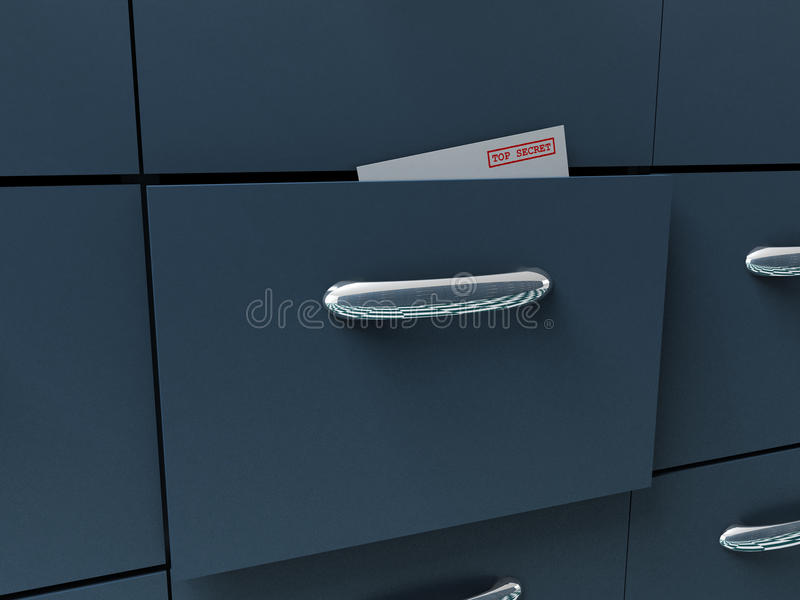 Cabinet. Eries of open cases for securities royalty free stock images