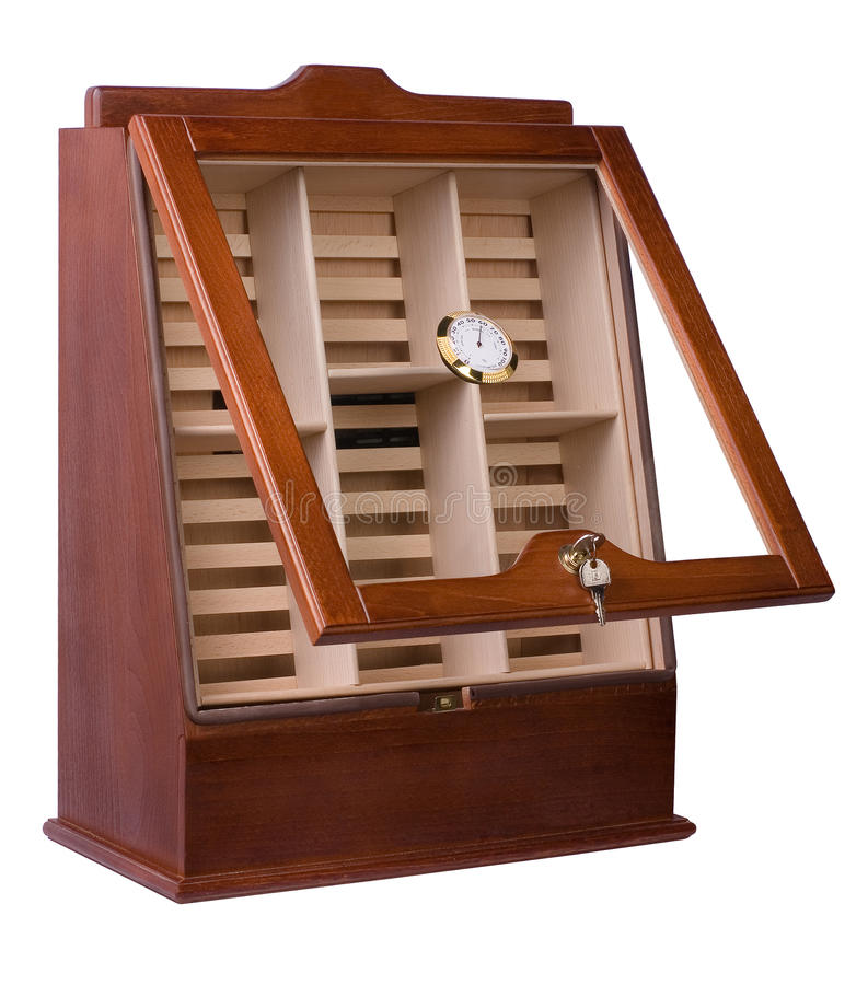 Cabinet for cigar storage stock photography