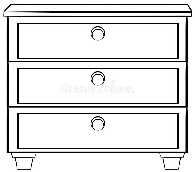 Wooden Drawers Stock Vector Illustration Of Cartoon 52334025