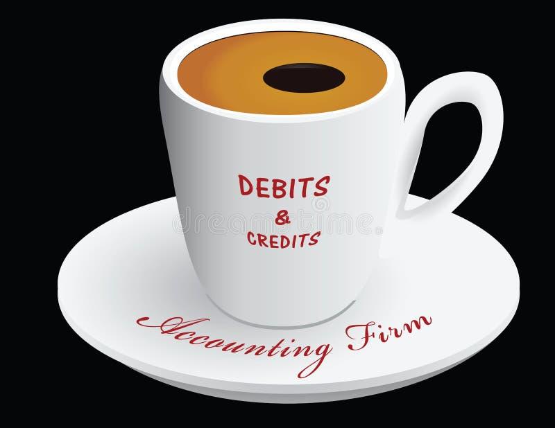 Cabinet comptable de tasse de café illustration de vecteur