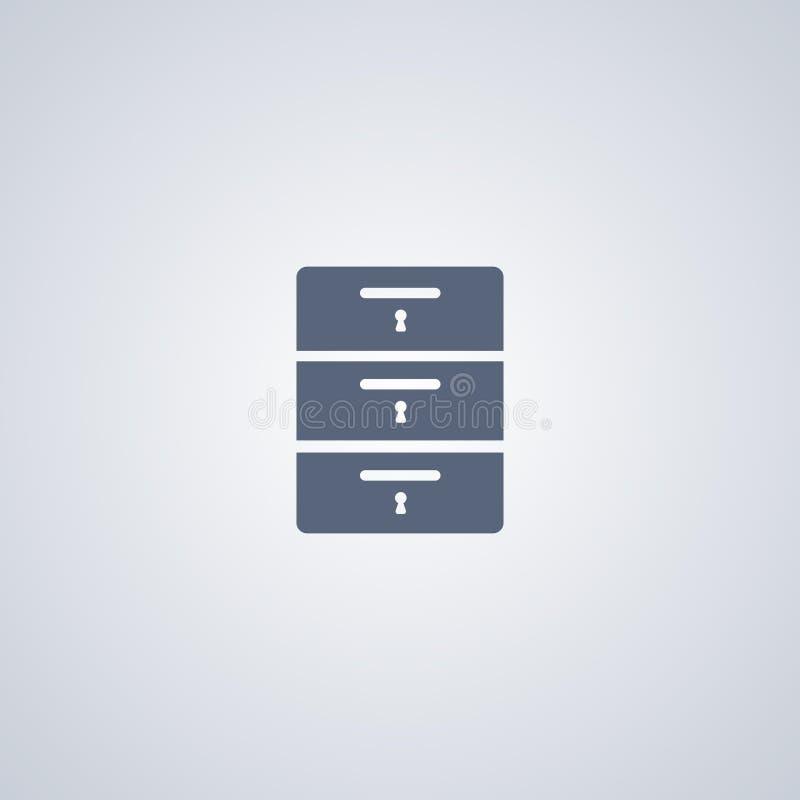 Cabinet, cupboard, vector best flat icon stock illustration