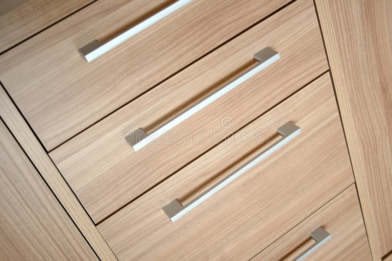 Cabinet drawers royalty free stock image