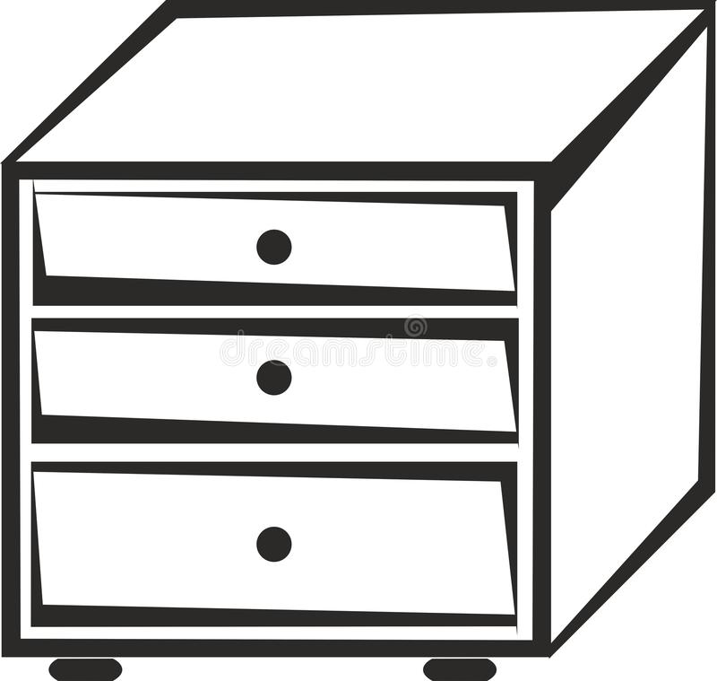 Kitchen Cabinet Clip Art: Cabinet With Drawers Stock Vector. Illustration Of