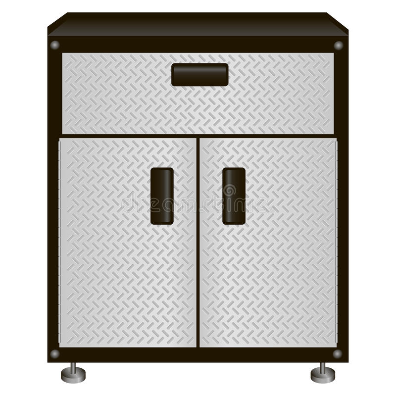 Cabinet with drawers for tools royalty free illustration