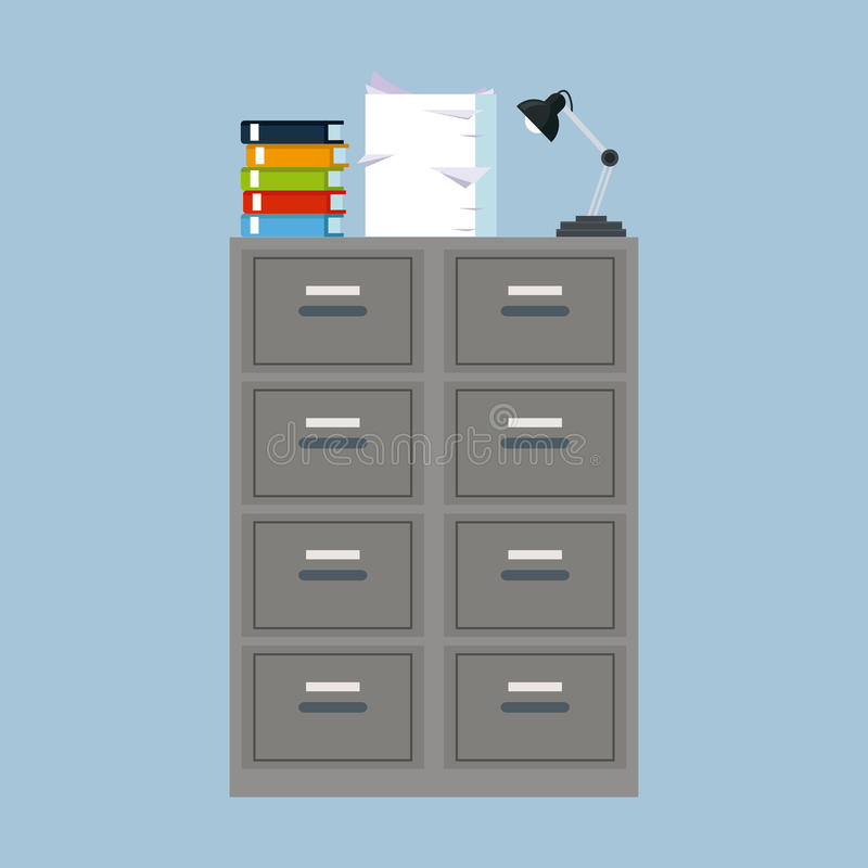Cabinet folder file binder lamp pile document. Vector illustration eps 10 vector illustration