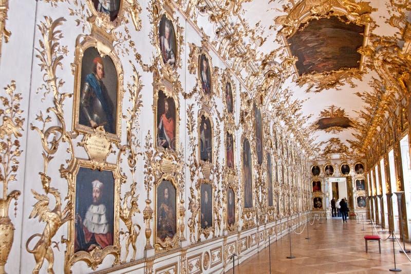 Cabinet héréditaire de galerie et de porcelaine, Residenz, Munich, Allemagne photographie stock libre de droits