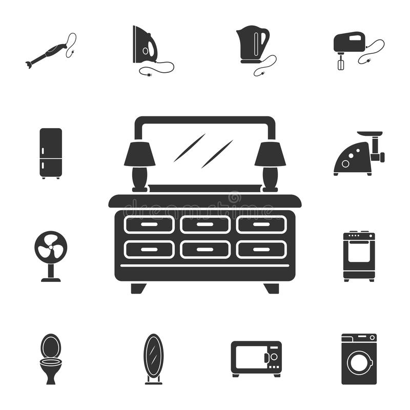 Cabinet icon. Simple element illustration. Cabinet symbol design from Home Furniture collection set. Can be used for web and mobil stock illustration