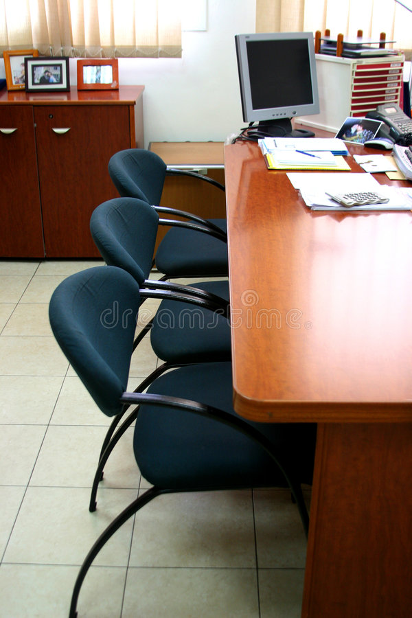 Cabinet for meetings. For discussion of the important question chiefs of departments are caused. In ten minutes the meeting will begin royalty free stock image