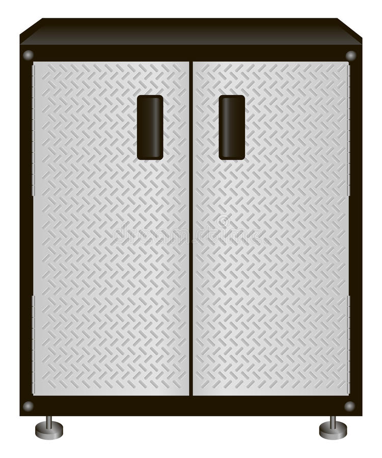 Cabinet for tools royalty free illustration