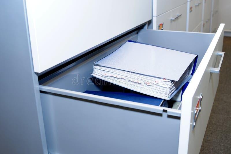 Cabinete de archivo. imagen de archivo libre de regalías