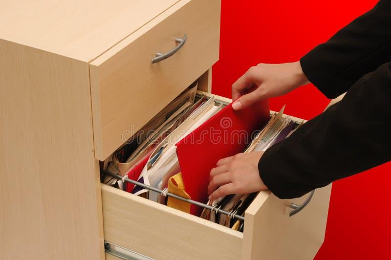 Cabinete de archivo foto de archivo libre de regalías