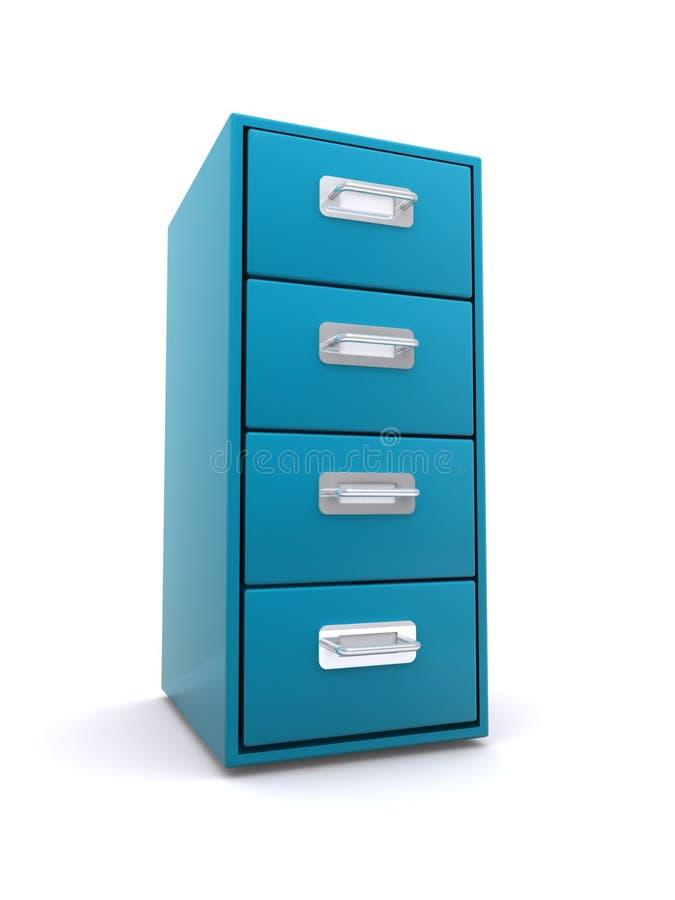 Cabinete de archivo azul   ilustración del vector