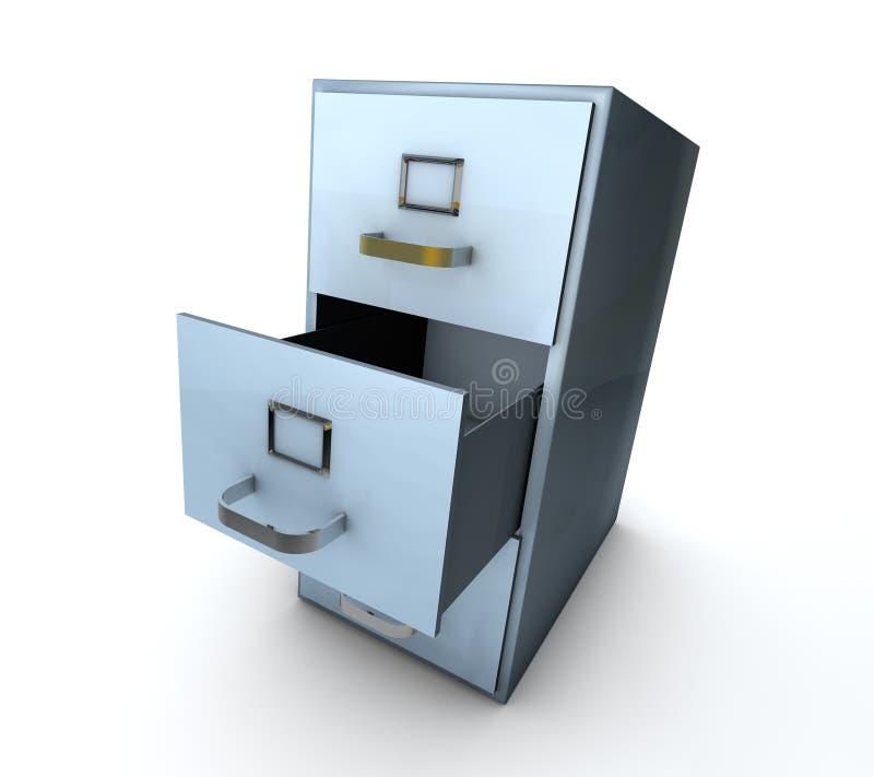 Cabinete de archivo azul stock de ilustración
