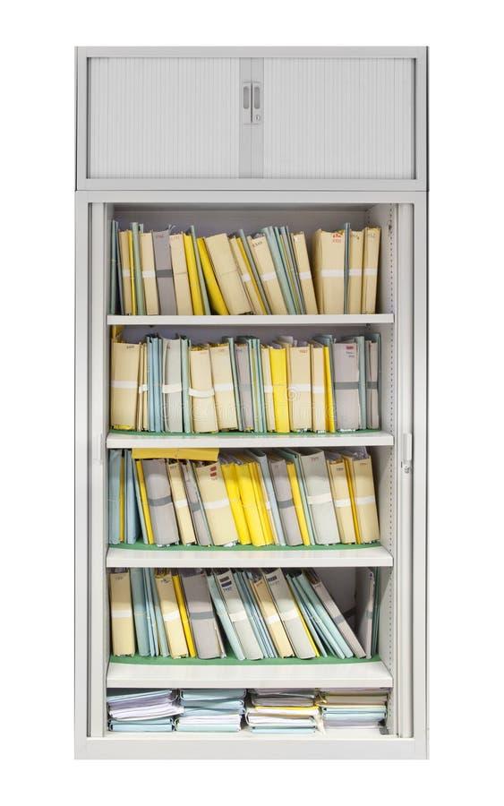 Cabinete de archivo con los ficheros fotografía de archivo
