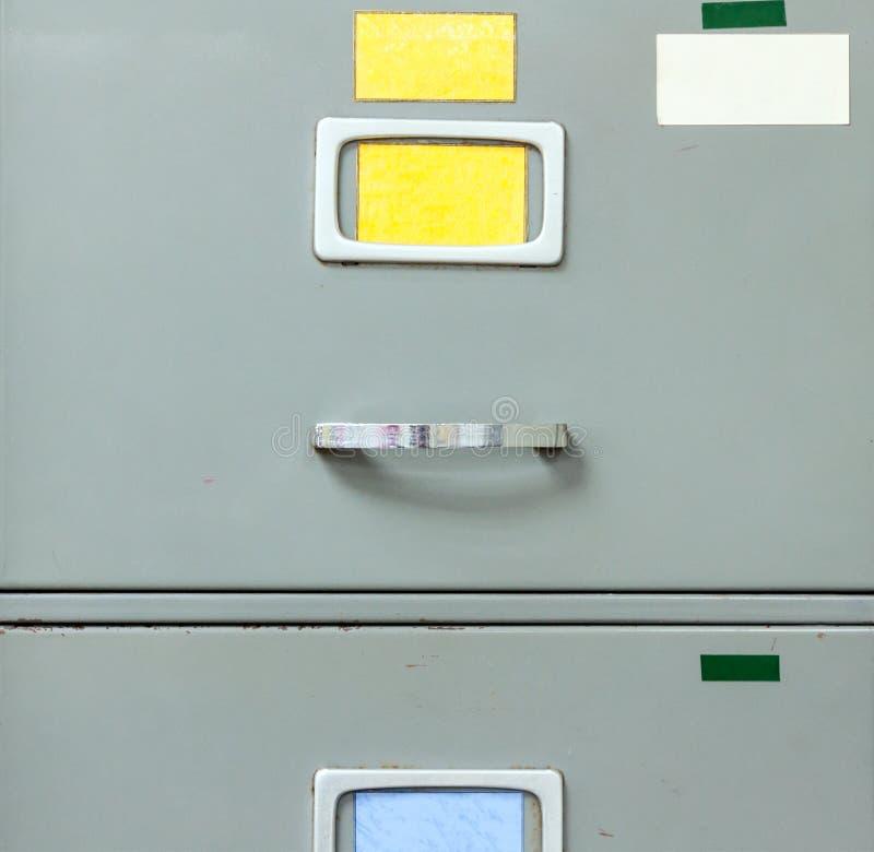Cabinete de archivo de acero fotografía de archivo libre de regalías