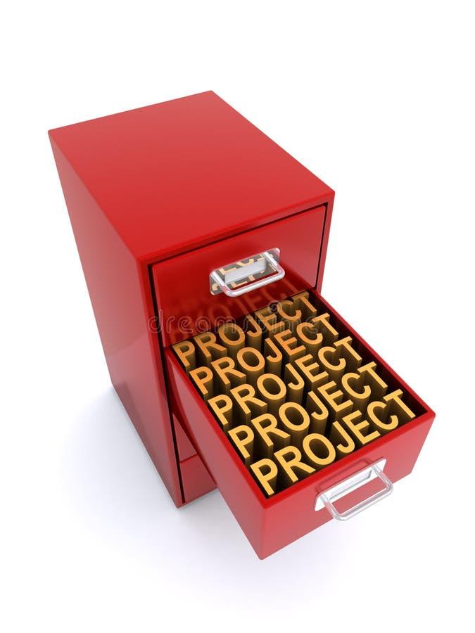 Cabinete de archivo del proyecto ilustración del vector