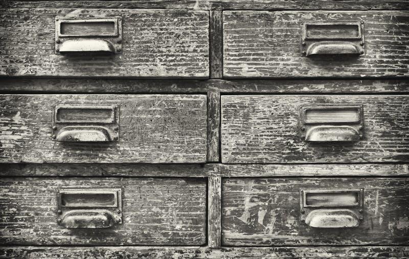 Cabinete de archivo viejo foto de archivo