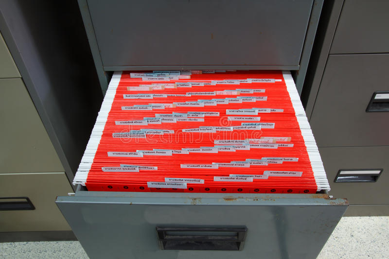 Cabinetes de archivo imagen de archivo