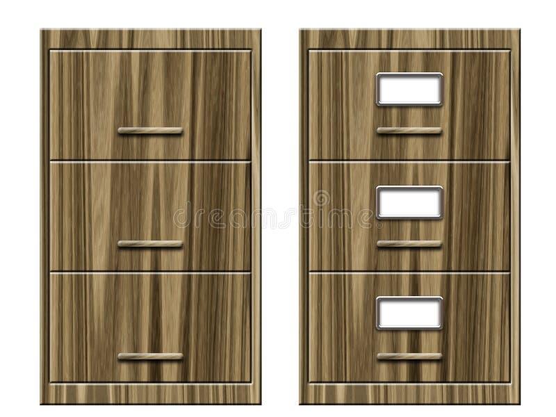 Cabinetes de archivo libre illustration