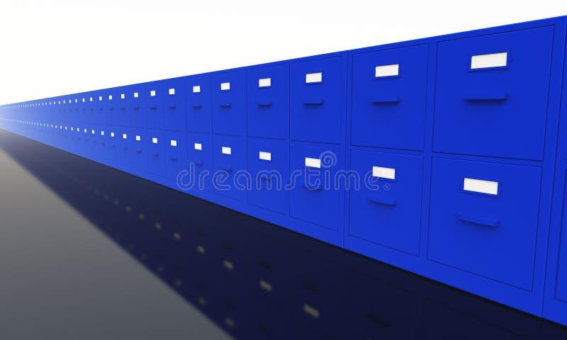 Cabinetes de archivo de la oficina stock de ilustración