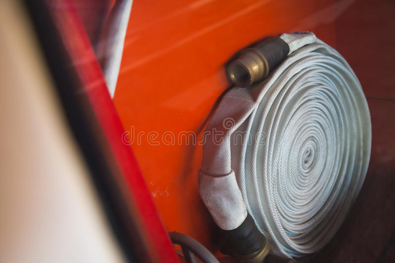 Cabinets for fire extinguishers royalty free stock image