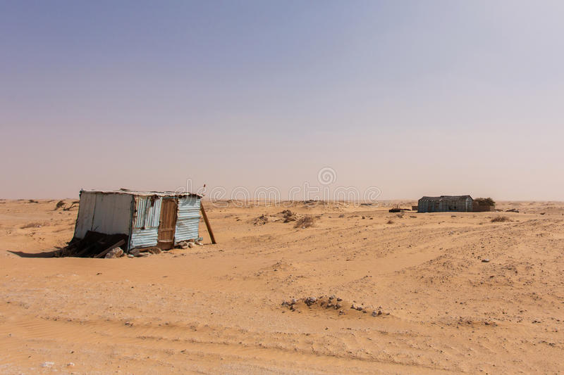 Cabins in Mauritania stock images