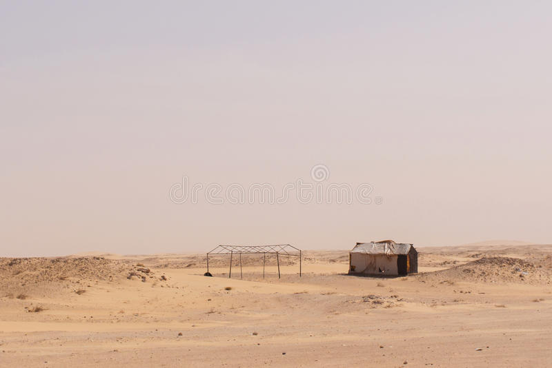 Cabins in Mauritania stock image