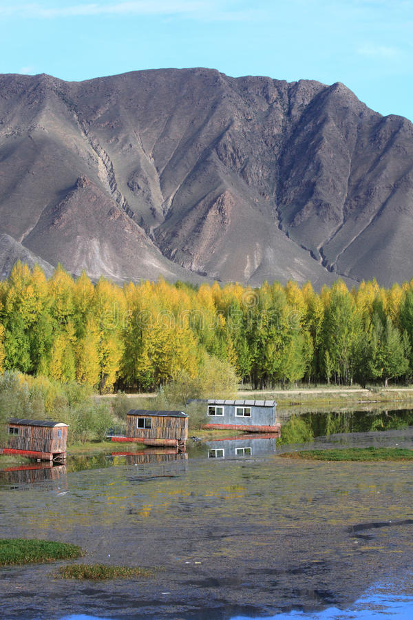 Download Cabins Near Kyi River Royalty Free Stock Images - Image: 22579879